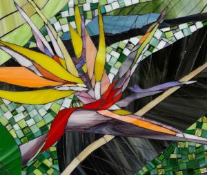 strelitzia glass Mosaic