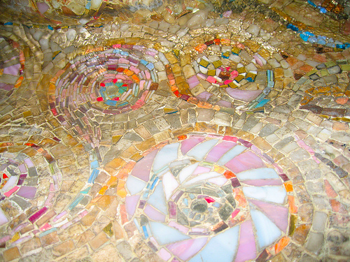arnaldo pomodoro mosaic fountain