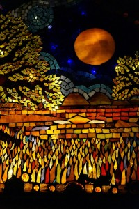 green man mosaic full moon
