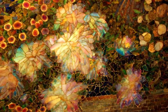 maxfield Parrish dream garden mosaic