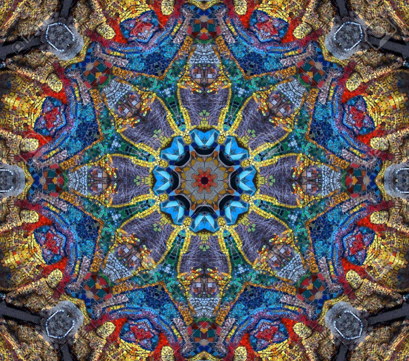 violet mosaic mandala