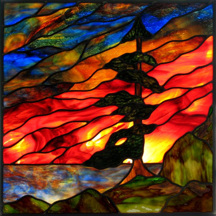 sunrise stained glass